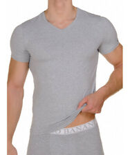 bruno banani V-Shirt T-Shirt V-Ausschnitt Your Future grau