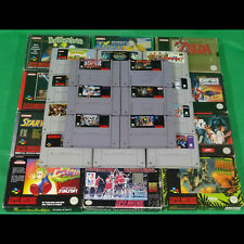 SNES Super Nintendo Games Boxed Cartridge Game Rare *Choose Yourself*