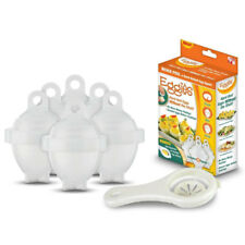 As Seen On TV Hard Boil Egg Cooker 6 Eggies CRACK/ BOIL /TWIST Without the Shell