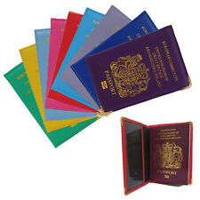 PU Leather UK European Passport Card Holder Protector Cover Wallet Pouch protect