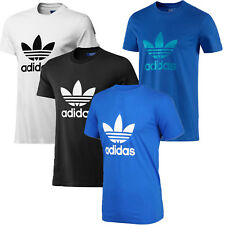 adidas Mens T - Shirt Originals Crew Neck Trefoil Cotton Tee Top Size S M L XL