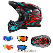 ONEAL Backflip Attack NERO ROSSO dh bmx mountainbike Casco MTB OCCHIALI FREERIDE