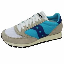 SAUCONY TRAINERS JAZZ ORIGINAL VINTAGE WHITE BLUE SNEAKERS