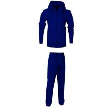 MYT Mens Contrast Jogging Full Tracksuit Fleece Hoodie Top Bottoms Joggers Gym