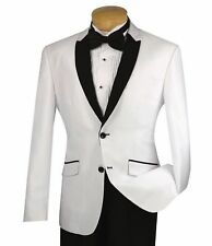 2018 White Groom Tuxedos Men Wedding Suits Jacket Groomsmen Custom