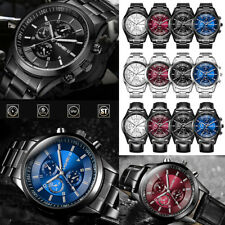 Fashion Men Waterproof Quartz Analog Wrist Watch Business Casual Sport Watch