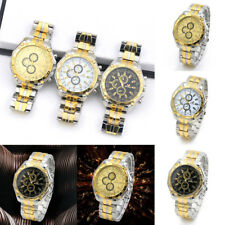 Men's Luxury Military Stainless Steel Analog Quartz Business Sport Wrist Watch