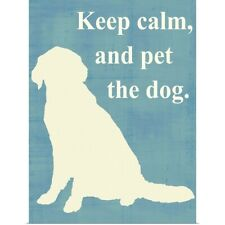 Poster Print Wall Art entitled Keep calm and pet the dog