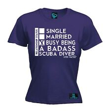 Ladies Diving - Busy Being A Badass Scuba Diver - diver funny Birthday T-SHIRT