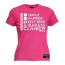 Ladies Climbing Bust Being A Badass Climber bouldering funny Birthday T-SHIRT