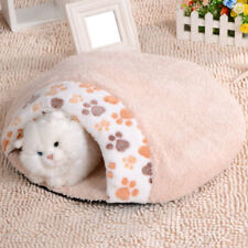 Cat Dog Puppy Sleeping Bag Warm Snuggle Bed House Kennel Cave Pouch Mat