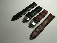 For Tag Heuer Watch Black Genuine Leather Strap Band Clasp 18 20 22 24 mm