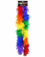 Ladies Rainbow Feather Boa Gay Pride Accessory Women Hen Night Party Fancy Dress
