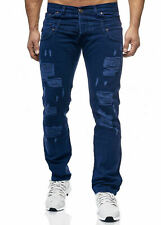 Herren Jeans Denim Skinny Jeans Straight-Cut-jeans Slim-Fit  W28-WW38 NEU