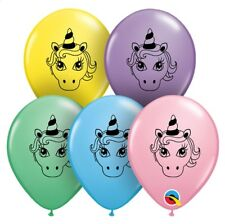 """Unicorn Magical Fairy tale mixed colours 5"""" Latex Balloons Party Bags Loot"""