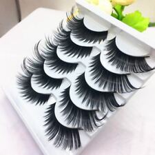 5 Pairs/Set Sexy Black False Eyelashes Very Exaggerated Thick Long Black Lashes