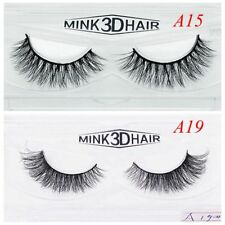1 Pair 100% Real Mink Fake Eye Lashes Natural Black Long Thick False Eyelashes