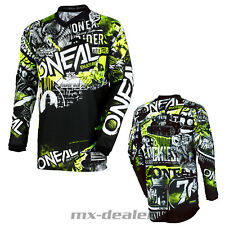 O'NEAL Element Attack Negro Neon JERSEY CAMISETA conductor MX Motocross MTB DH