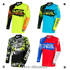 O'NEAL ELEMENT Burnout ATTACK GIALLO Jersey Maglia da ciclista MX motocross