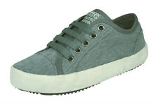 Boys Geox Trainers J Alonisso B Canvas Kids Shoes - Grey - RRP £49.95