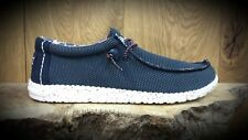 Hey Dude // Dude Shoes // Wally Sox Blue Multi light weight summer shoes // NEW!