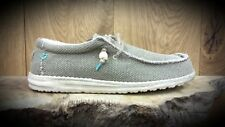 Hey Dude // Dude Shoes // Wally Braided Sage light weight summer shoes // NEW!