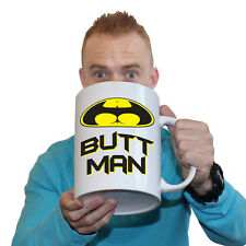 Funny Mugs - Butt Man - Offensive Adult Humour Rude Cheeky GIANT NOVELTY MUG