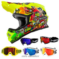 O'NEAL 3Series CRANK NEON CASCO CROSS MX motocross HP7 Occhiali Enduro DH
