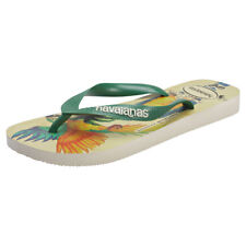 Havaianas Ipe Womens Beige Green Synthetic Flip Flops