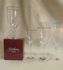 GORHAM LAURIN GOLD WATER GOBLET, WINE GLASS, FLUTED CHAMPAGNE, ICED BEVERAGE NEW