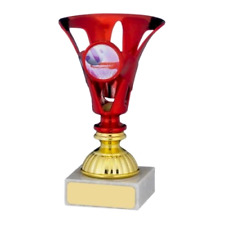 Mini Red Multi Sport Award Trophy Football Netball Sportsclub FREE Engraving