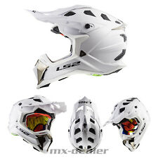 LS2 LS 2 MX 470 Subverter Gloss blanco Mx Casco de Cross motocross quad enduro