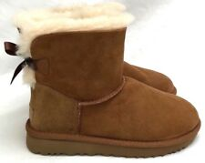 Ugg Mini Bailey Bow II Chestnut Suede Women's Winter Boots Size 7