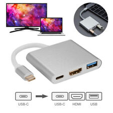 3in1 Type-C to 4K HD HDMI USB 3.1 Hub USB-C Charging Adapter for Apple MacBook
