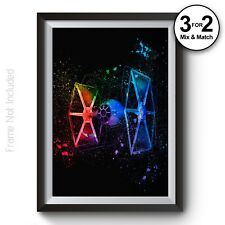 Star Wars Poster - StarWars Print - TIE Fighter Giclee Wall Art - Abstract Art
