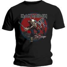 OFFICIAL LICENSED - IRON MAIDEN - TROOPER RED SKY T SHIRT - METAL EDDIE