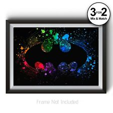 Batman Giclee Wall Art - Old Style Batman Logo Poster - Abstract Fanart Print