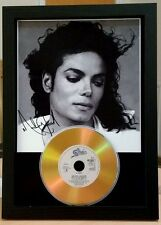 MICHAEL JACKSON - SIGNED PHOTOGRAPH GOLD CD DISC COLLECTABLE MEMORABILIA GIFT 87
