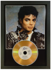 MICHAEL JACKSON - SIGNED PHOTOGRAPH GOLD CD DISC COLLECTABLE MEMORABILIA GIFT 09