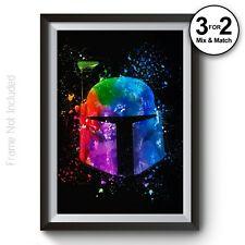 Star Wars Movie Poster - Boba Fett Giclee Wall Art Print - Abstract Painting