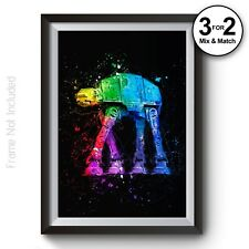 Star Wars Wall Art Prints - AT-AT Walker Poster - Giclee Abstract Painting