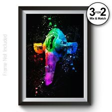 Star Wars Slave1 Wall Art Print - Abstract Fanart Painting - Giclee Quality