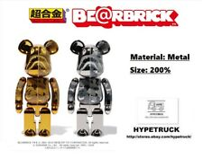 A BATHING APE BAPE x  MEDICOM TOY Chogokin BE@RBRICK 200%, BEARBRICK GOLD SILVER