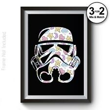 Stormtrooper Poster - Cute Pattern - Star Wars Movie Posters - Giclee Quality
