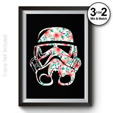 Stormtrooper Poster - Flower Pattern - Star Wars Movie Posters - Giclee Quality