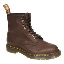 Dr Martens Bark Brown 1460 Grizzly Boots, Alternative Textured Leather Footwear