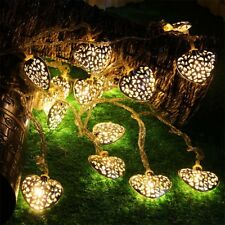 LED Heart Shape Light String Fairy Lights Iron Wedding Home Decoration