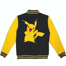 Pikachu Hoodie Pokemon Varsity Jacket Mens Womens Sun and Moon 3DS Switch