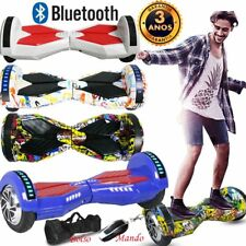 """8.0"""" PATINETE ELECTRICO BLUETOOTH OVERBOARD SCOOTER MONOCICLO MANDO BOLSO LED WO"""
