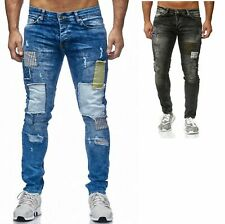 Herren Jeans Hose Denim Blue Game Stonewashed Destroyed Pant Hose 3189 DE